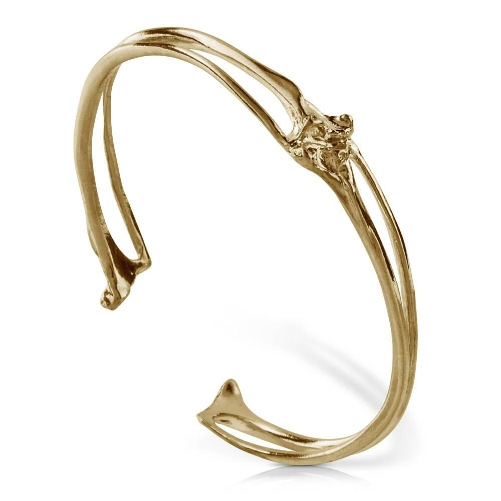 Rattlesnake Rib Cuff - 14K Gold