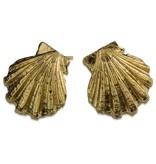 Scallop Shell Earrings - 14K Gold (Post)
