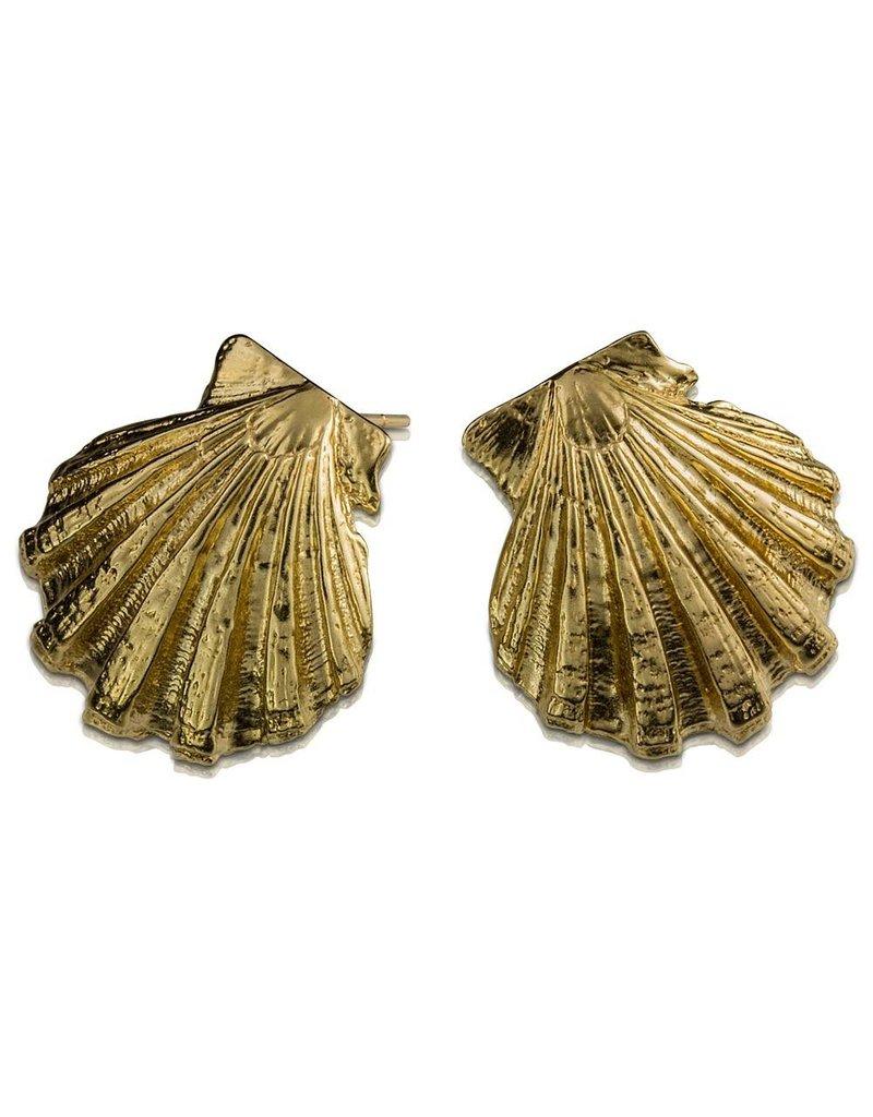 Scallop Shell Earrings (Post)