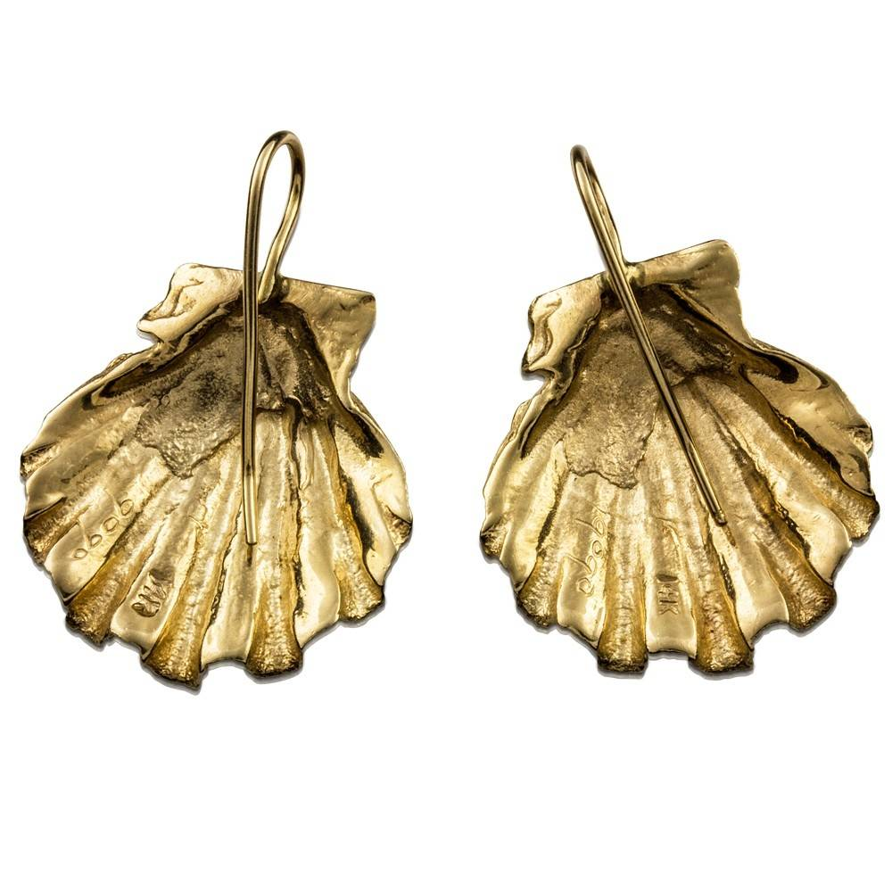 Scallop Shell Earrings (Wire)