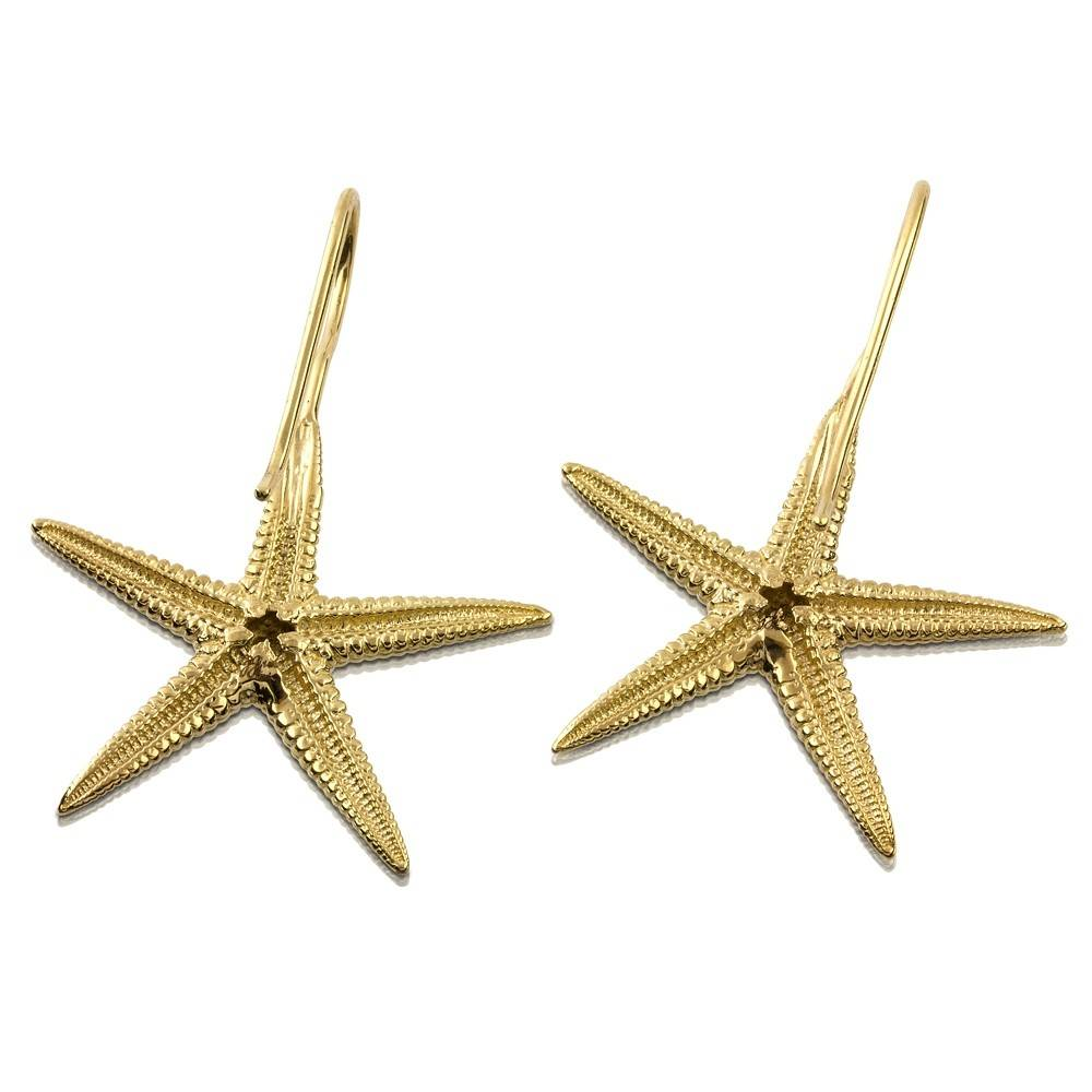 Starfish Earrings 14k Gold Wire