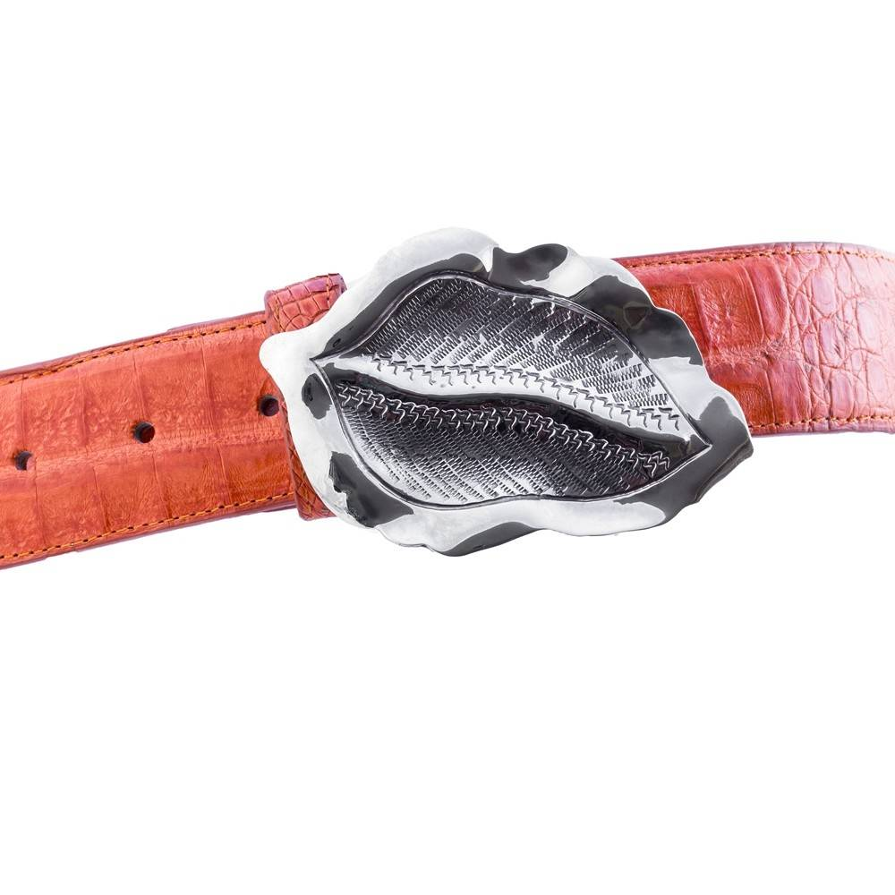 Caiman Alligator Belt - Orange