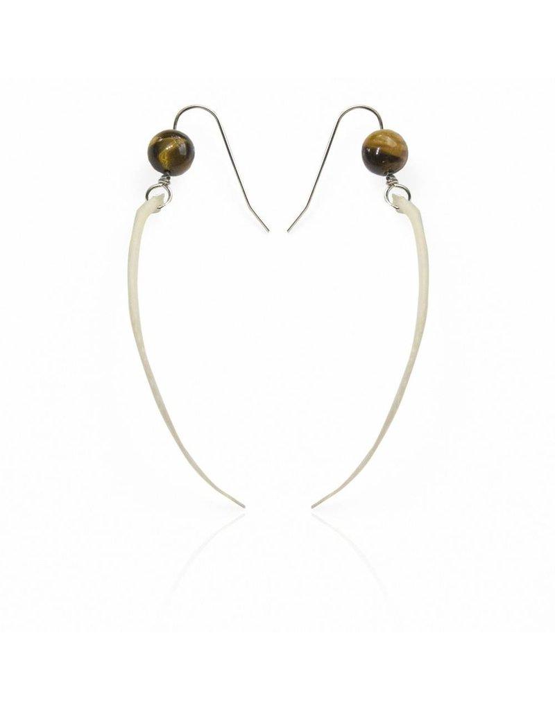 Rattlesnake Rib Earrings