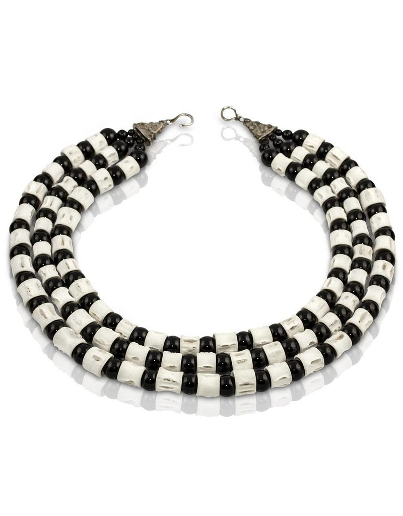 Shark Vertebrae Triple Necklace (Large)