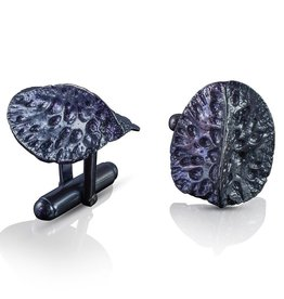Alligator Scute Cufflinks (Oxidized)