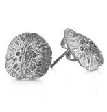 Alligator Scute Earrings - Sterling Silver (Small)