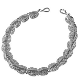 Alligator Scute Necklace - Sterling Silver