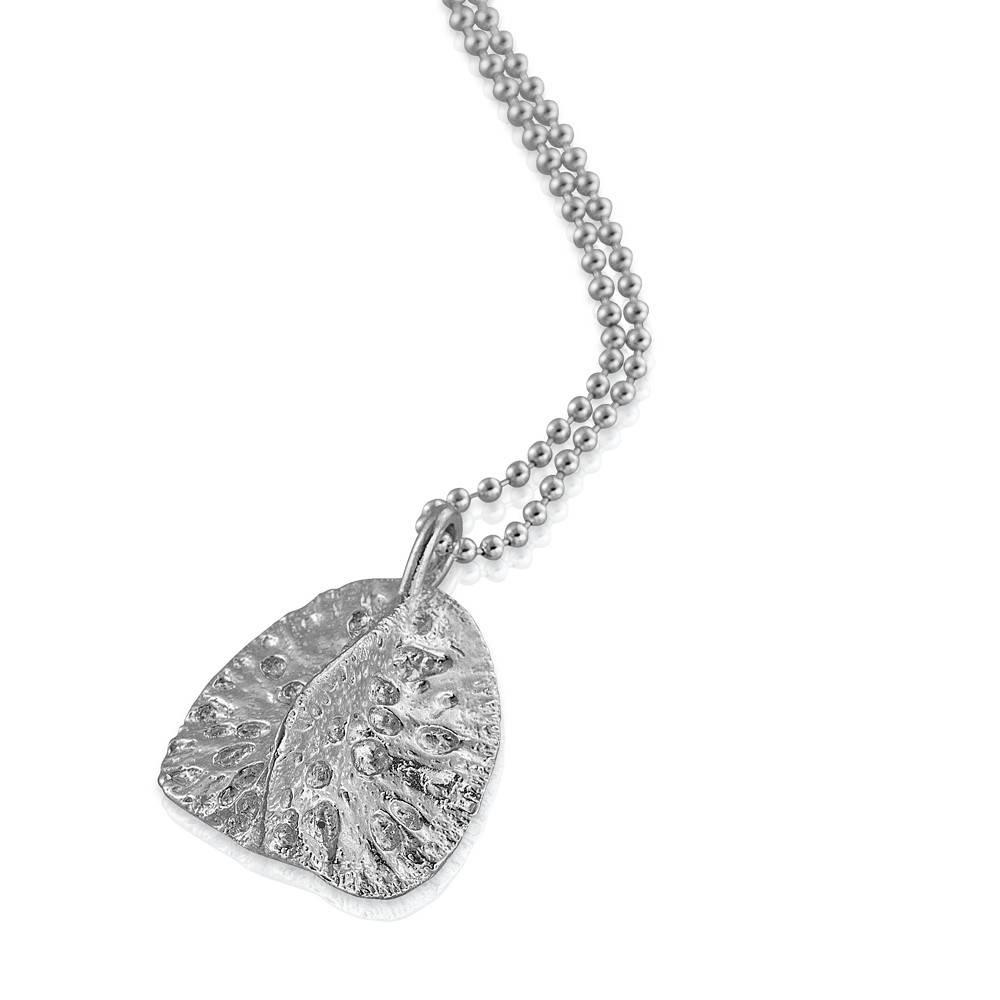 Alligator Scute Pendant - Sterling Silver (Large)