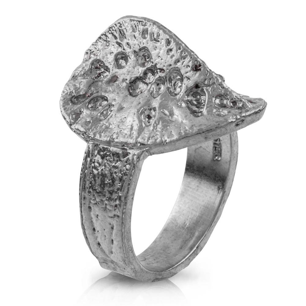 Alligator Scute Ring - Sterling Silver
