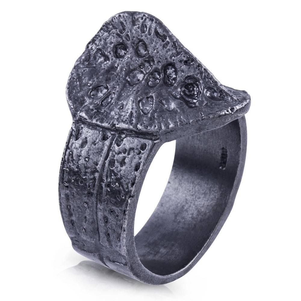 Alligator Scute Ring (Oxidized)