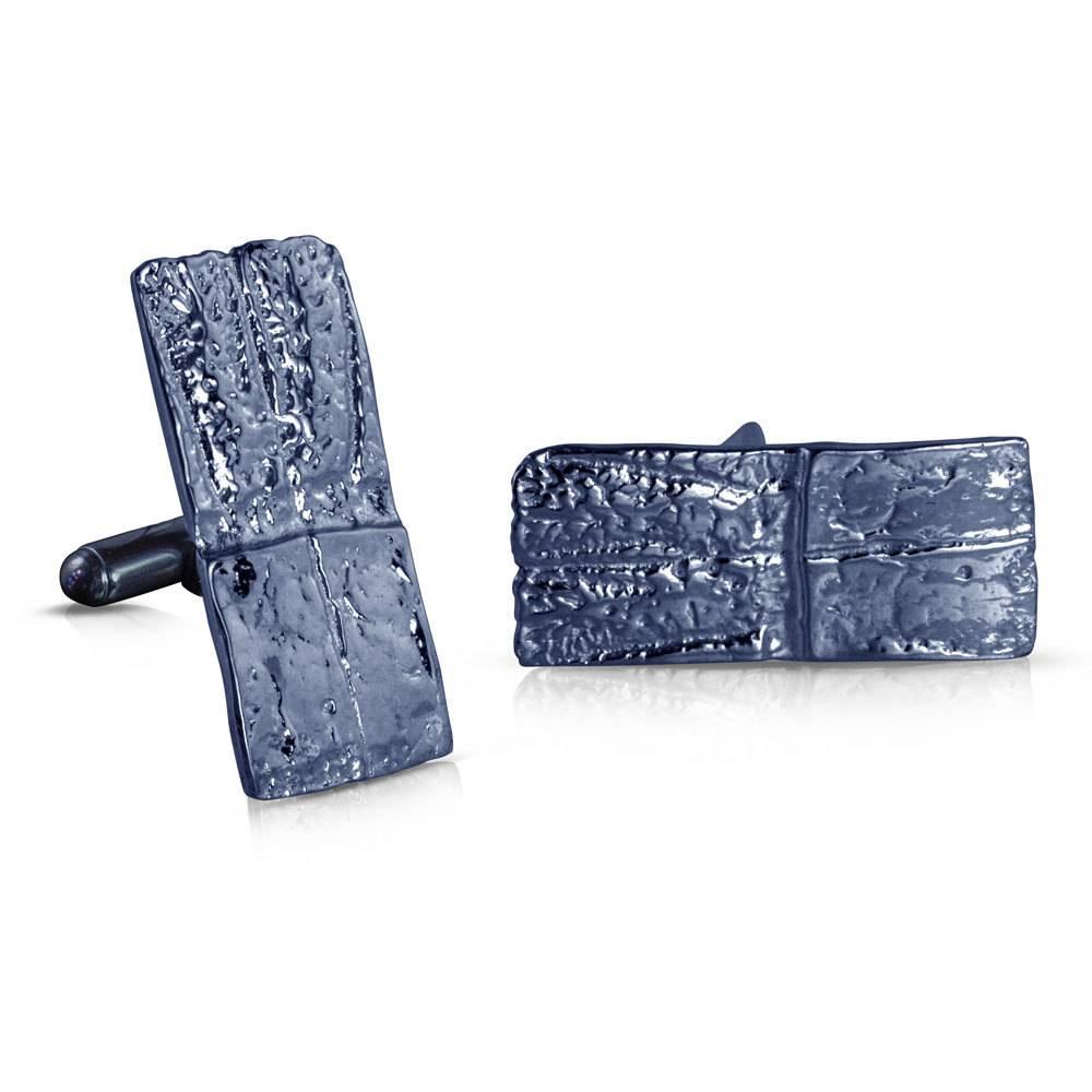 Armadillo Shell Cufflinks - Sterling Silver (Oxidized)