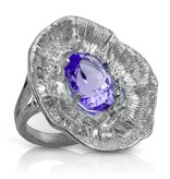 Barnacle Ring - Sterling Silver (Amethyst)