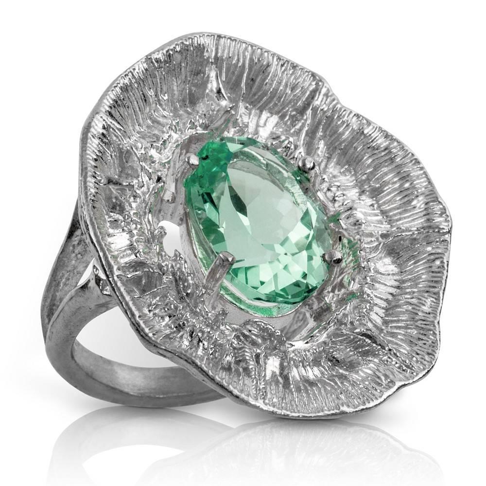 Barnacle Ring (Green Amethyst)