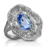 Barnacle Ring (London Blue Topaz)