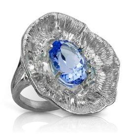 Barnacle Ring (London Blue Topaz)