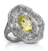 Barnacle Ring - Sterling Silver (Lemon Quartz)