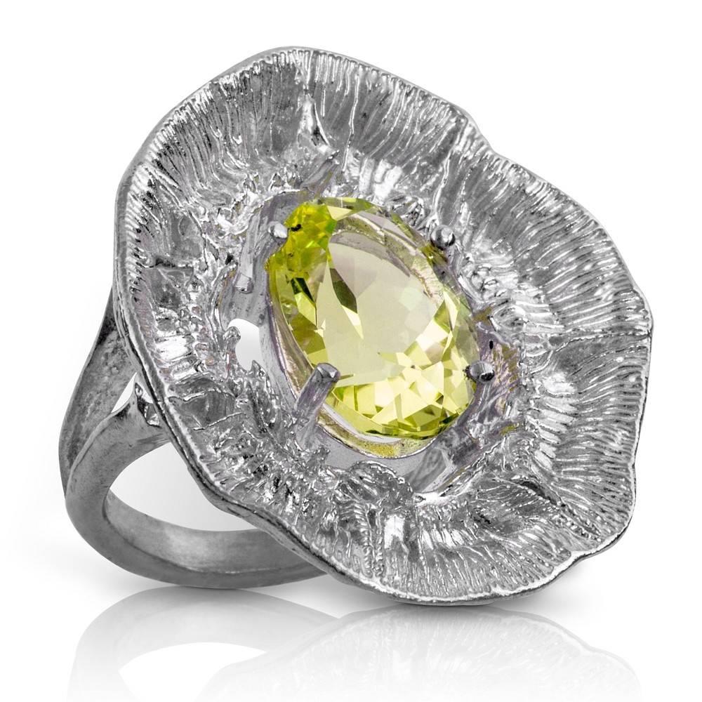 Barnacle Ring (Lemon Quartz)