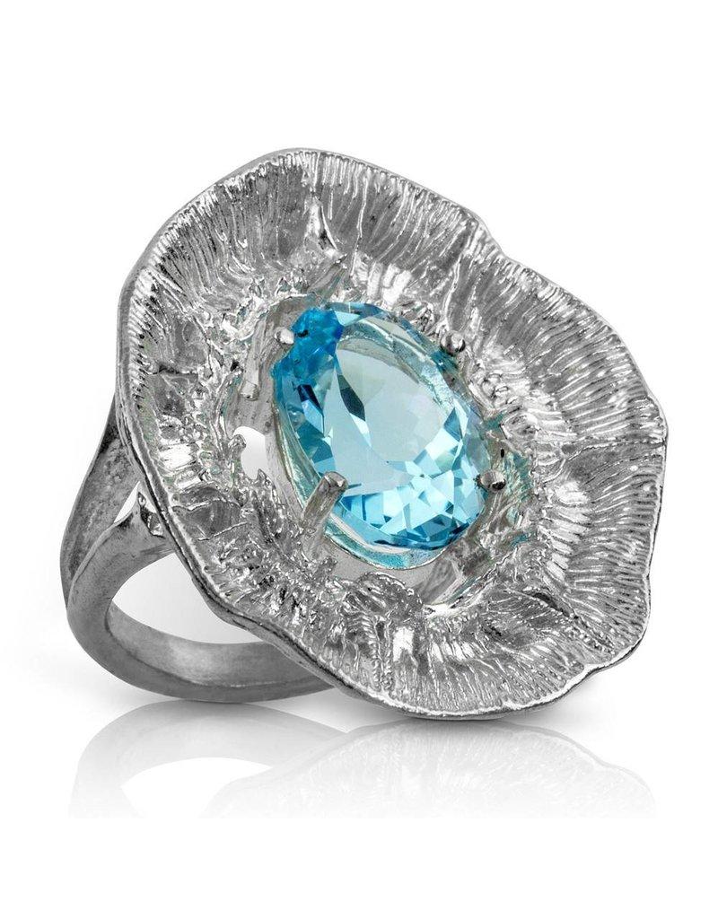 Barnacle Ring (Sky Blue Topaz)