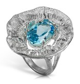 Barnacle Ring (Sky Blue Topaz)