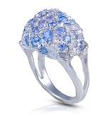 Coral Stone Ring (Sky blue Topaz)