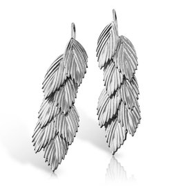 Sea Oats Earrings - Silver