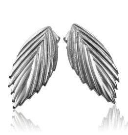 Single Sea Oats Earrings - Silver