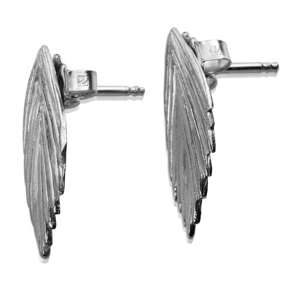 Single Sea Oats Earrings - Sterling Silver