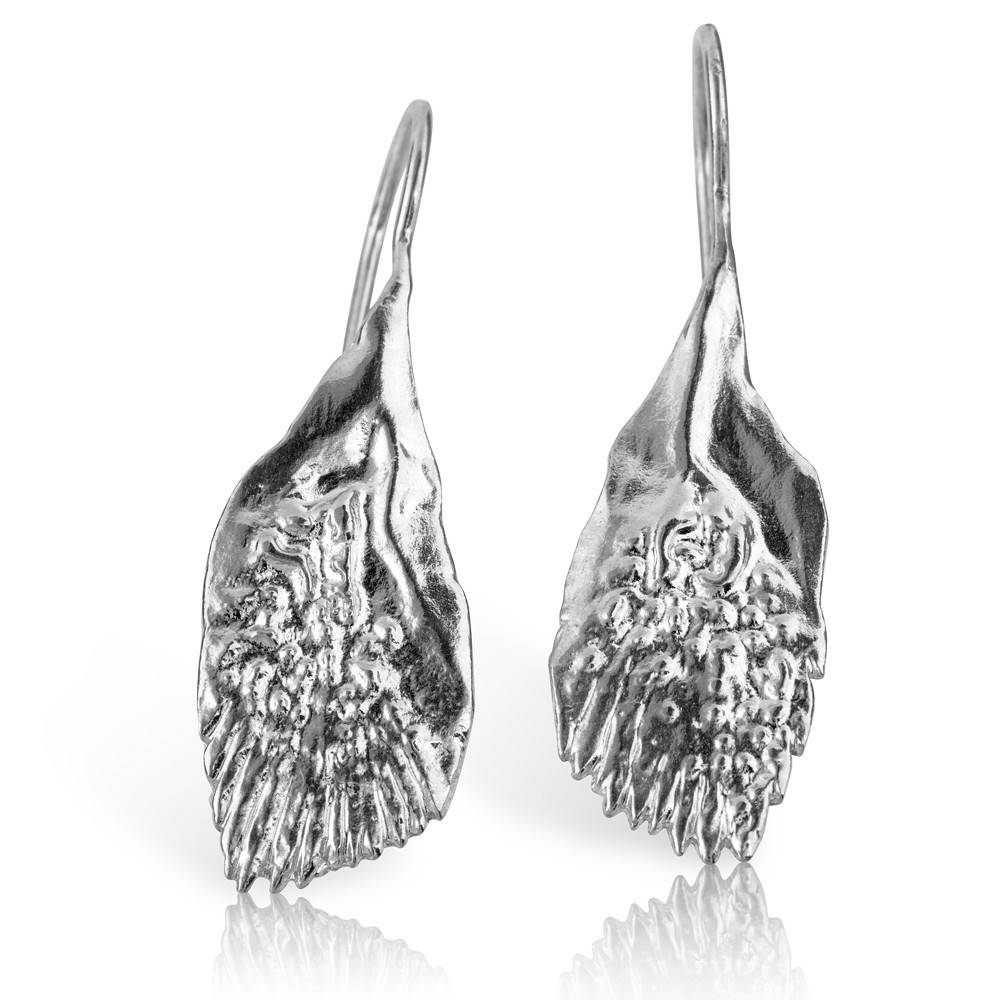 Garfish Scale Earrings - Sterling Silver
