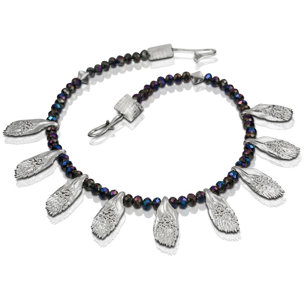 Garfish Scale Necklace