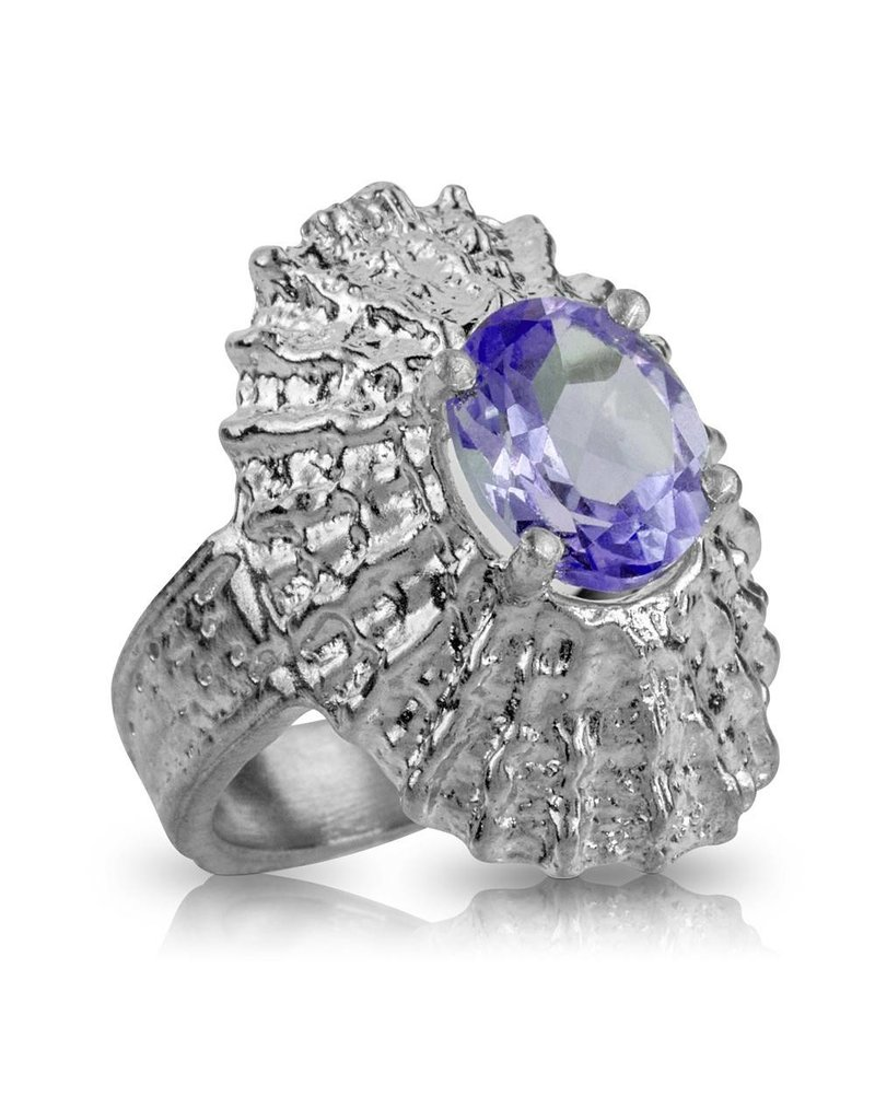 Limpet Shell Ring (Alexandrite Spinel)