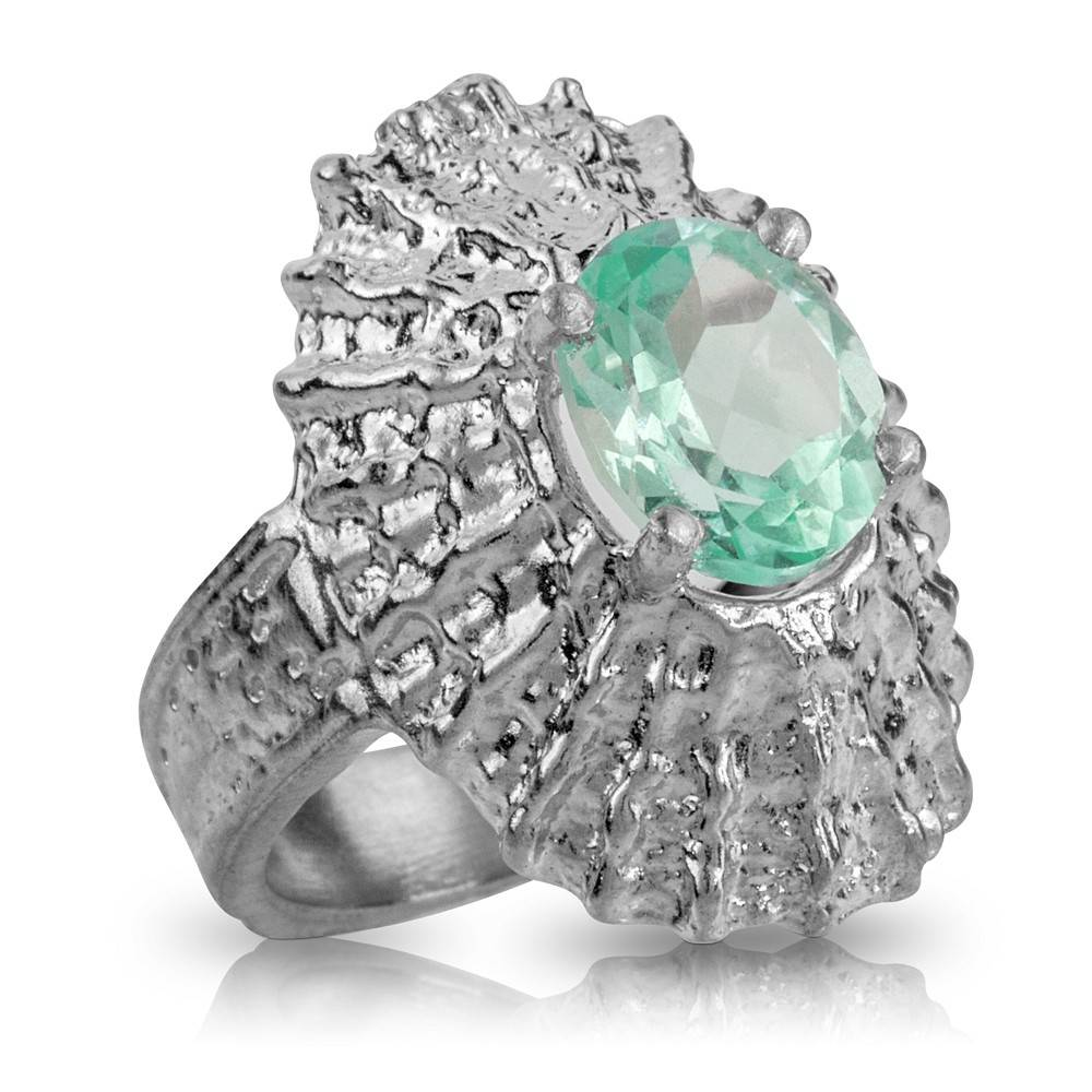 Limpet Shell Ring (Emerald Spinel)