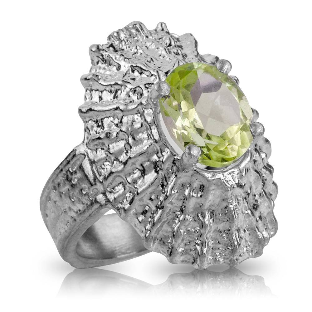 Limpet Shell Ring (Lemon Quartz)