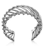 Rattlesnake Rib Multi Cuff - Sterling Silver
