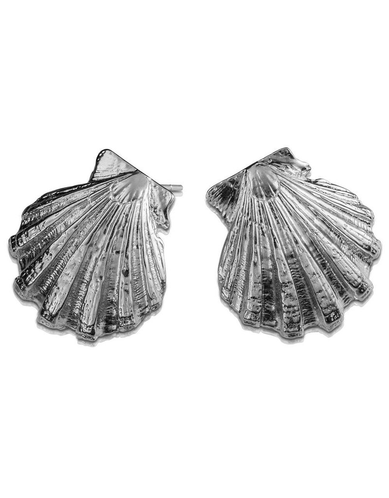 Scallop Shell Earrings (Post)