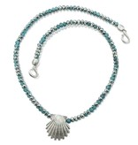 Scallop Shell Pendant Necklace - Sterling Silver (Small)