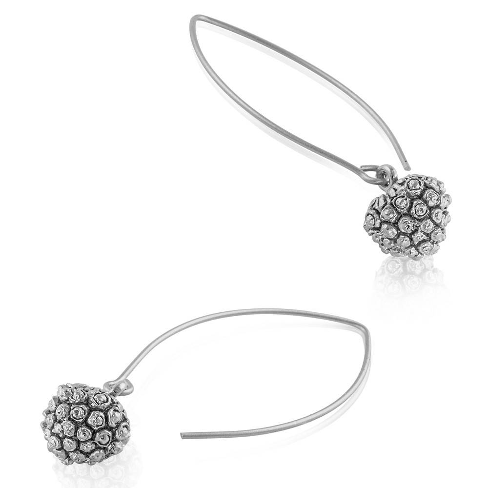 Kousa Dogwood Seed Pod Earrings - Sterling Silver