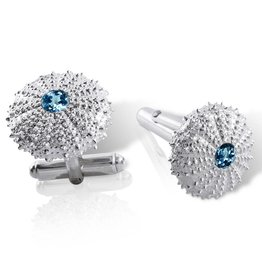 Sea Urchin Cufflinks (London Blue Topaz)