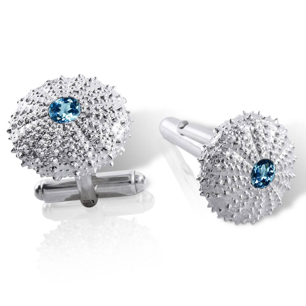 Sea Urchin Cufflinks (London Blue Topaz)