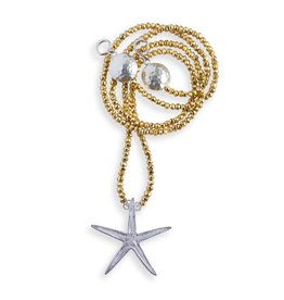 Starfish Pendant Opera Necklace (Large)
