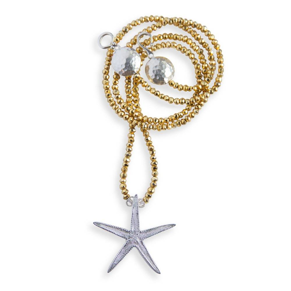 Starfish Pendant Opera Necklace (Large)
