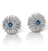 Sea Urchin Earrings - Medium Single (London Blue Topaz)
