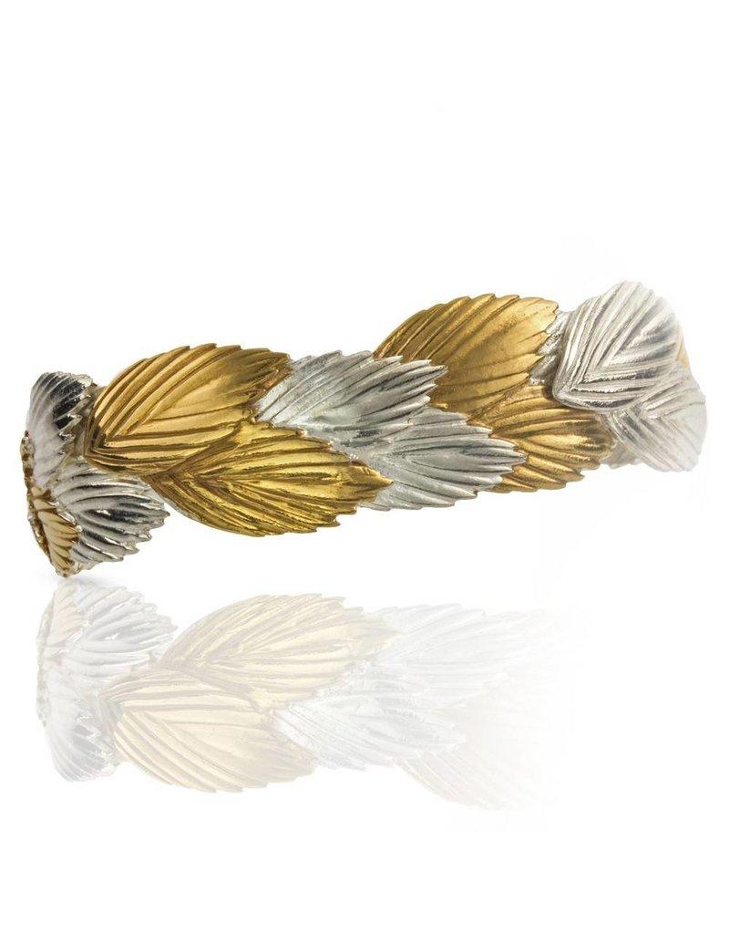 Sea Oats Cuff Sterling Silver/Vermeil
