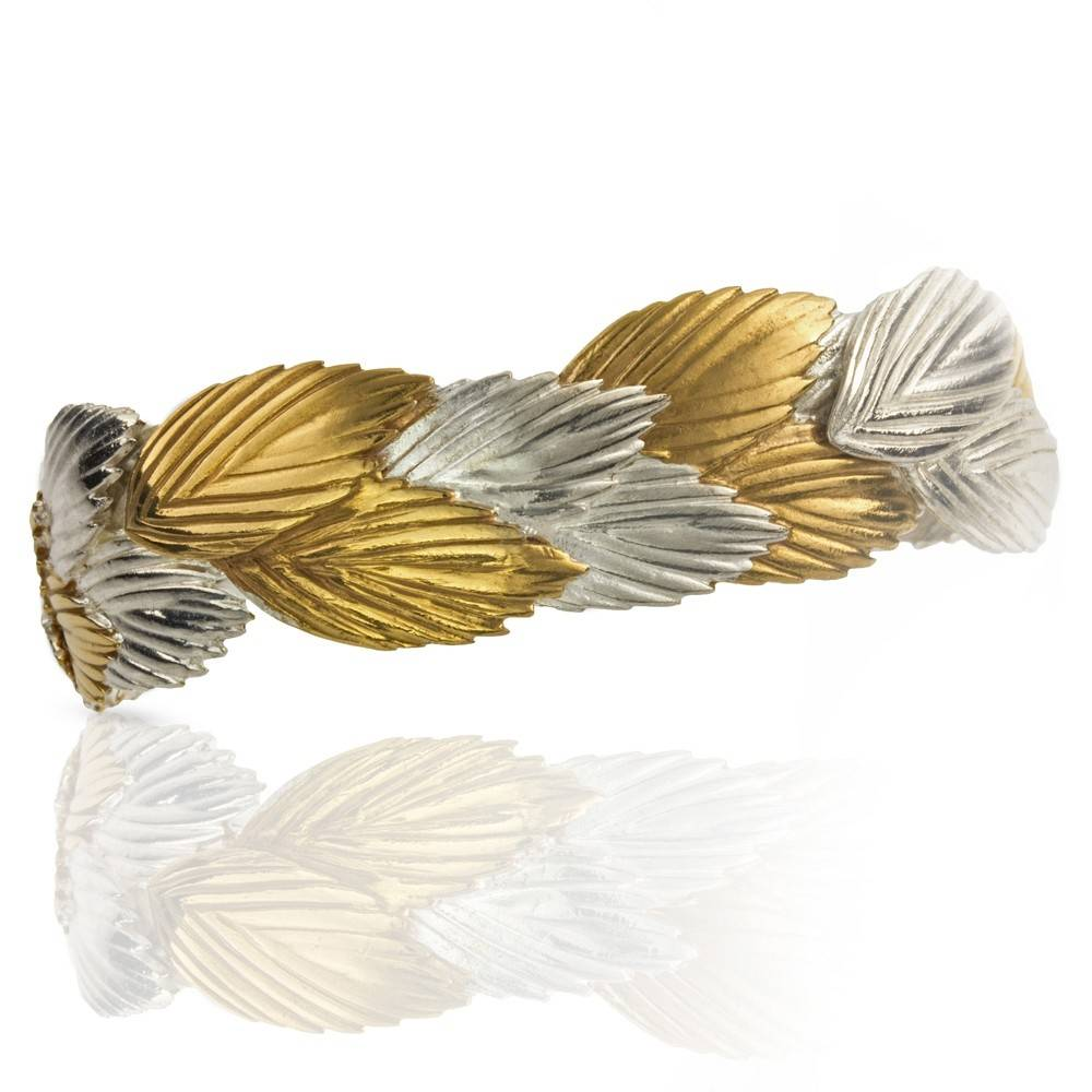 Sea Oats Cuff - Two Toned (Sterling Silver + Vermeil)