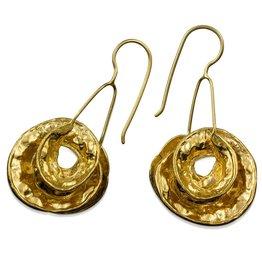 Coral Bean Pod Earrings