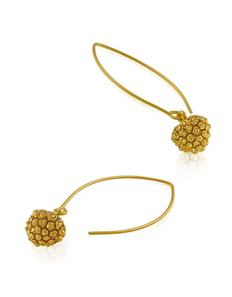 Kousa Dogwood Seed Pod Earrings