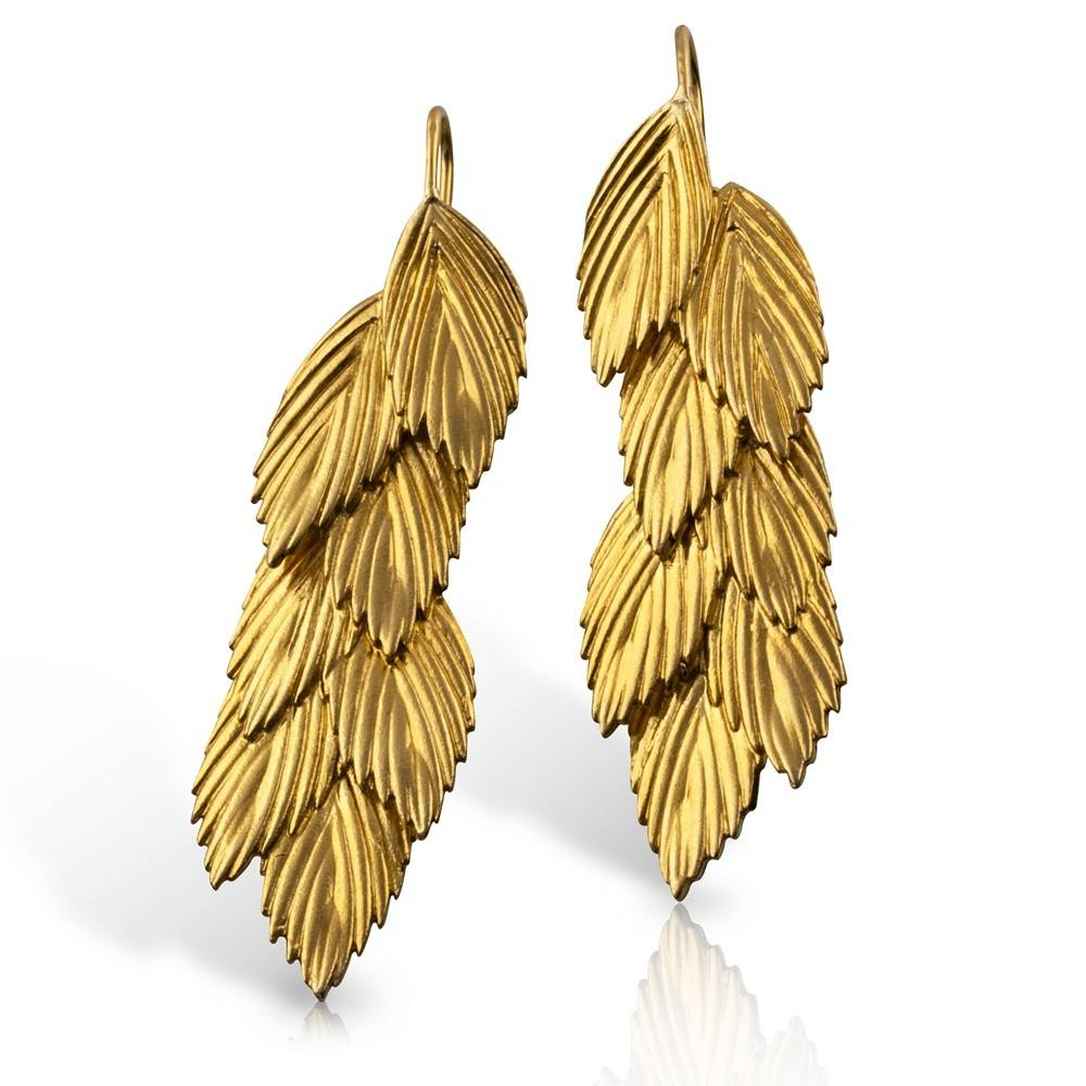 Sea Oats Earrings - Vermeil