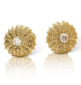 Sea Urchin Earrings - Vermeil - Large (Clear CZ)