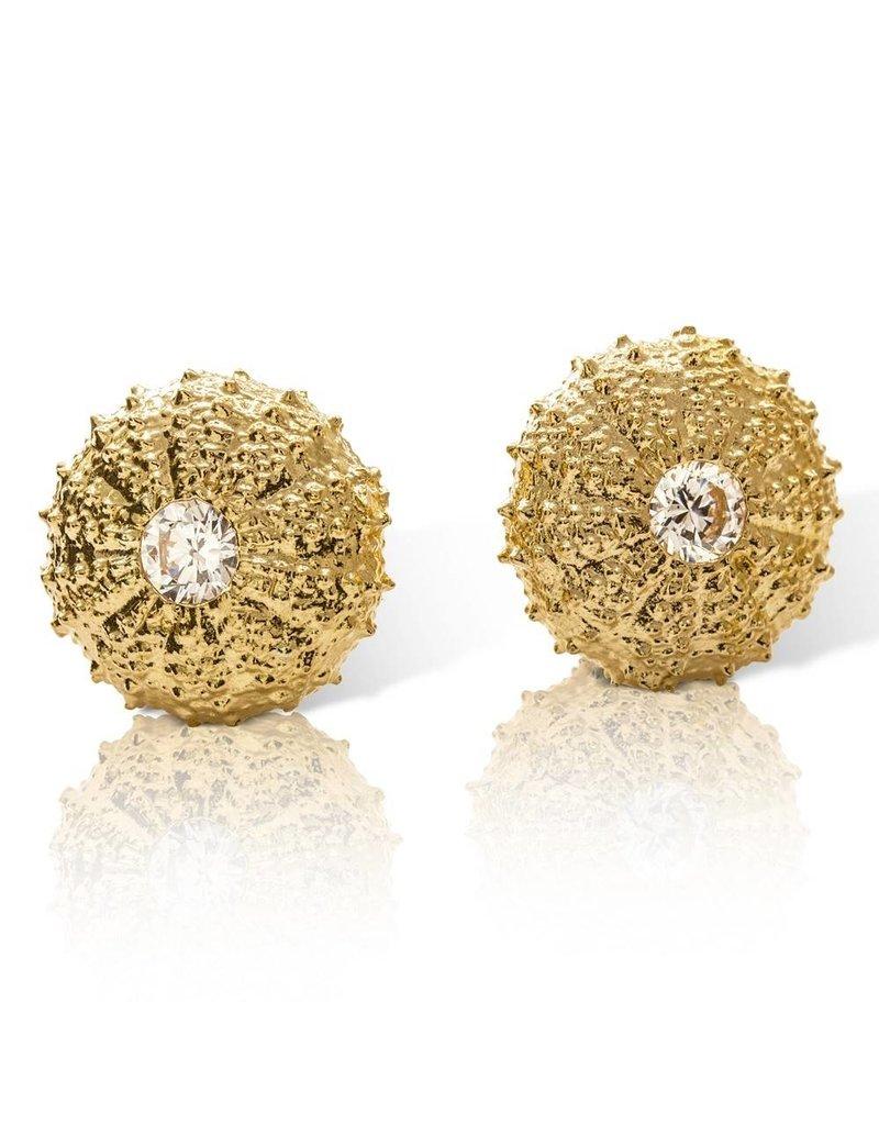 Sea Urchin Earrings - Large Single (Clear CZ)