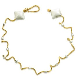 Worm Encasement Necklace - Vermeil