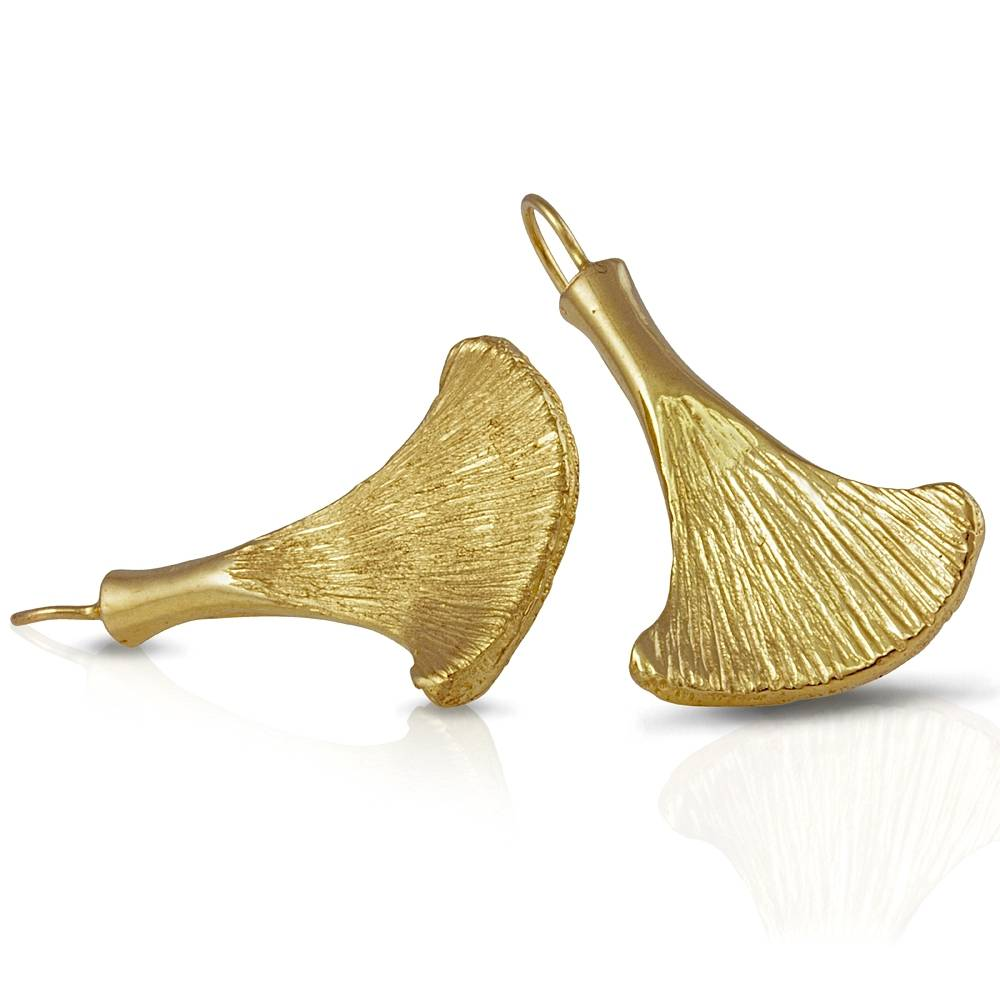 Armadillo Scapula Earrings - Vermeil